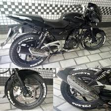 Pulsar Sticker Design Pulsar Sports Customized Ever Lasting Rubber Lettering For
