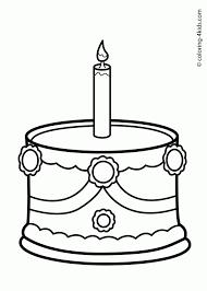 Small Picture Coloring Pages Birthday Cake Coloring Page Coloring Page Birthday