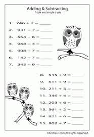 Fun Math Worksheets for Kids | Animal Jr.Math Worksheet: Adding Single Digits to 3 Digits