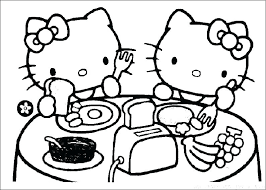 Kitty Coloring Page Hello Kitty Coloring Pages Free To Color K Cute