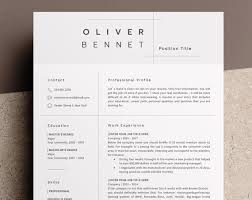 Minimalist Resume Template Mesmerizing Minimalist Resume Template Cv Template 48 Page Resume Etsy