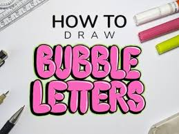 how to draw bubble letters step by