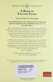 english essays a book of the penguin english library w e english essays a book of the penguin english library w e williams 9780140431537 com books