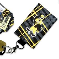 Iowa Mini Id Hawkeyes Lanyard Sk179b Holder - Wallet