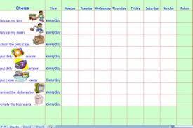 Toddler Chore Chart Template Under Fontanacountryinn Com