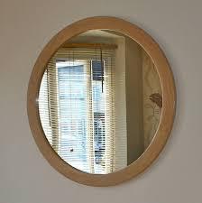 large round wood mirror round designs