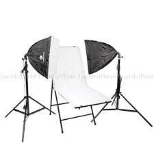 ezylite softbox twin head continuous lighting kit 60x130cm shooting table essential photo