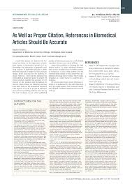 Pdf As Well As Proper Citation References In Biomedical Articles