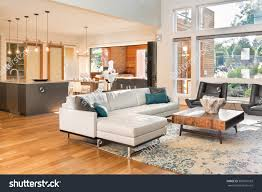Living Room And Kitchen Beautiful Living Room Interior New Luxury Stock Photo 360591503