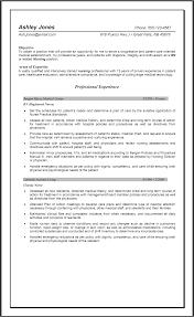 Experienced Nurse Resume Examples Experienced Nursing Resume