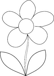 Flower Coloring Template Flower Coloring Pages For Kids Coloring