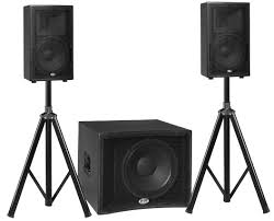 stage speakers setup. mobile dj \u2022 karaoke nightclub, restaurant, bar installation corporate audio / video n home entertainment system live sound stage monitoring speakers setup a