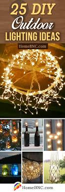 Diy lighting ideas Thecubicleviews Diy Outdoor Lighting Ideas Homebnc 25 Best Diy Outdoor Lighting Ideas And Designs For 2019
