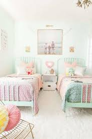 small shared room design and decoration idea pink turquoise color scheme are the favorite colors for most little girls love simplicity of this kids bedroom designs s97 designs
