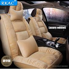 rkac car seat cover autumn winter front rear back seats cushion for land rover discovery 3 4 5 freelander 2 sport range rover best popular oczi1