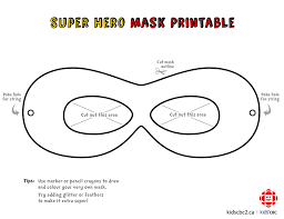 Decorate Your Own Superhero Mask