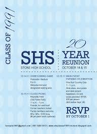 Class Reunion Invitation Template STONE HIGH CLASS OF 24 24 YEAR REUNION Reunion Invitation HS 2