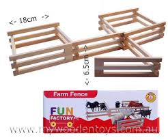 wooden farm fence. Wooden Toy Hinged Farm Fence