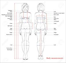 Woman Body Measurement Chart Scheme For Measurement Human Body