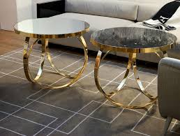 mirrored coffee table. Round Gold Mirrored Coffee Table