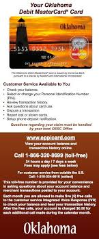 Unemployment Service Benefits - Card Help Oklahoma Eppicard Customer