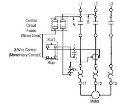three phase motor starter wiring diagram wiring diagram electric motor starter wiring diagram [f] control circuit fuses and three phase motor starter wiring diagram