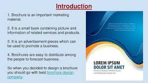 How To Find Best Brochure Design Company Ppt Download