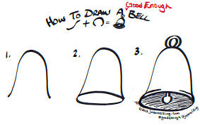how to draw a good enough bell tutorial image by jeannel king