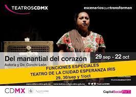 Cambian sede de obra Del manantial del corazón al teatro Esperanza Iris