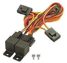 electric fan wiring harness electric image wiring amazon com derale 16765 electric fan dual relay wire harness on electric fan wiring harness
