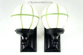 glass globe wall sconce bridges antique cast iron exterior sconces with green lined milk globes replacement for candle candles
