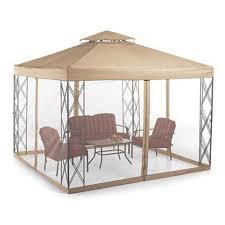 sears monaco gazebo replacement canopy by sears whole home 10 x 10 cabin style gazebo garden s chamberlain garage door