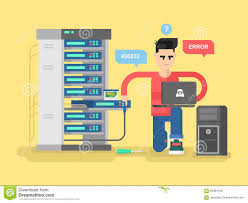 It Specialist Network Stock Vector Illustration Of