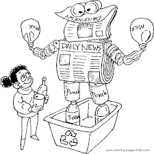 Small Picture Recycle news papers Earth Day color page holiday coloring pages
