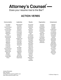 Awesome Collection Of Just A Few Action Verbs To Use On Your Legal