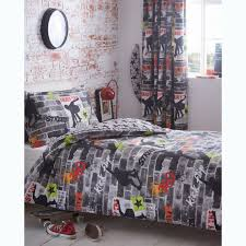 cool bed sheets for teenagers. Modren Bed Kidz Club Teenagers Single Bed Duvet Cover And Pillowcase Bedding Set  Cool Skateboards Graffiti And Sheets For