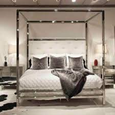 chrome bedroom furniture. polished chrome canopy bed bedroom furniture