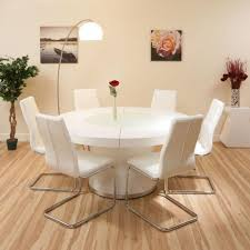 beautiful round dining table for 6 19 bench seating seater glass and chairs small room chair sets ideas