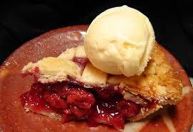 cherry pie slice with ice cream. Delighful Pie Cherry Pie Special And Slice With Ice Cream H