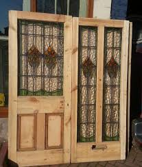 regency antiques item superb pair of stained glass doors