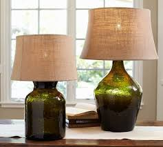 clift glass table lamp base in green 120 170