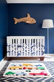 Shark Decorations For Bedroom Bedroom Modern Stripe Mattress Cover Blue Wall Nursery Wooden