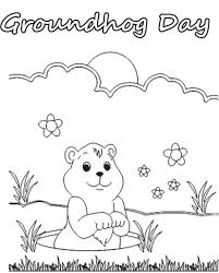 Small Picture The Elegant along with Attractive Groundhog Day Coloring Pages