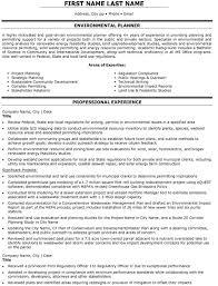 Environmental Planner Resume Sample & Template