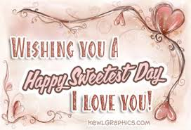 Wishing you a happy sweetest day i love you Facebook Graphic ...