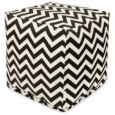 Black And White Pouf Bean Bag Furniture Poufs Outdoor Ottomans Majestic Home Goods