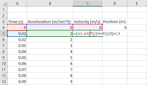 Numerical Integration Of Tabular Data In Excel Engineerexcel
