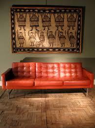 very comfortable stylish 1970s leather sofa