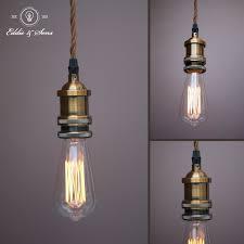 Vintage Light Bulb Pendant Kit Lamp Holder Ceiling Rose Bronze