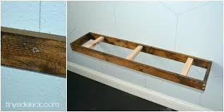 attach shelf to wall how install rustic modern floating shelves brick without drilling mounting unit
